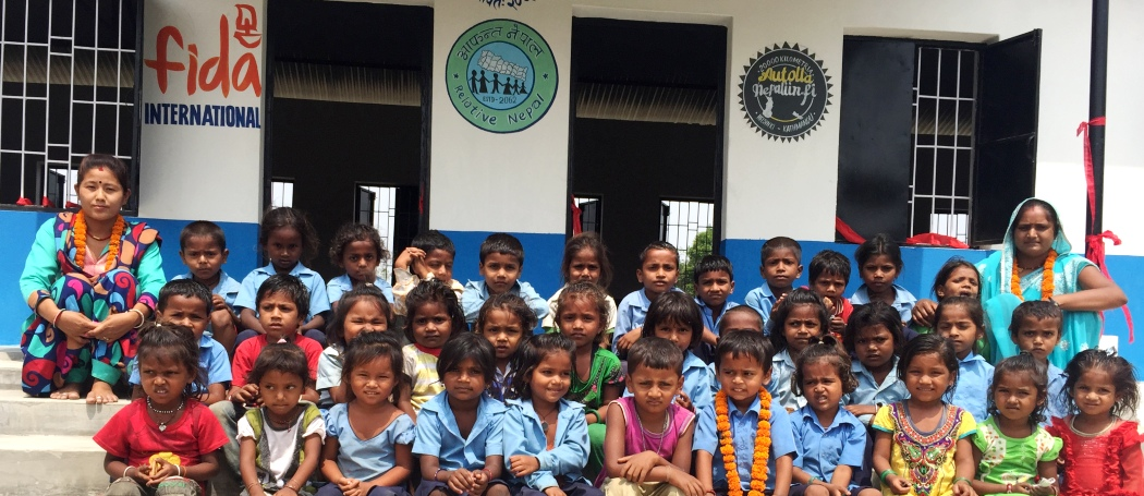 Students of Devki Model Primary School, Bateshwar, Dhanusha